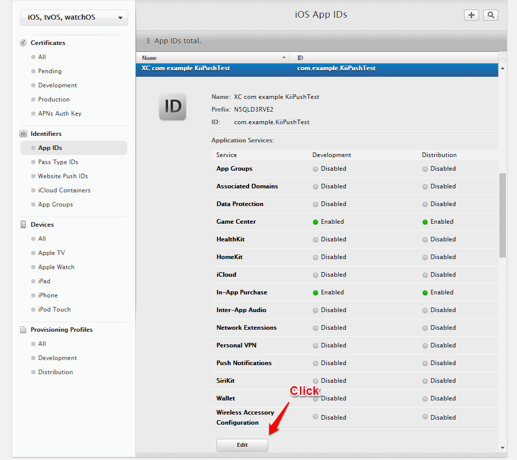Create a certificate scroll down the page to find the disabled push notifications option enable it and then click the create certificate button in the development ssl 1betcityfo Images