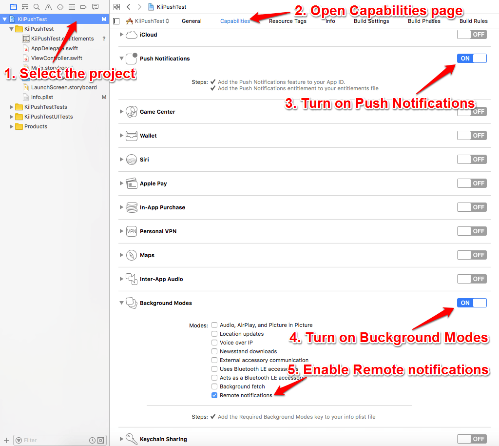 Configure the Project in Xcode